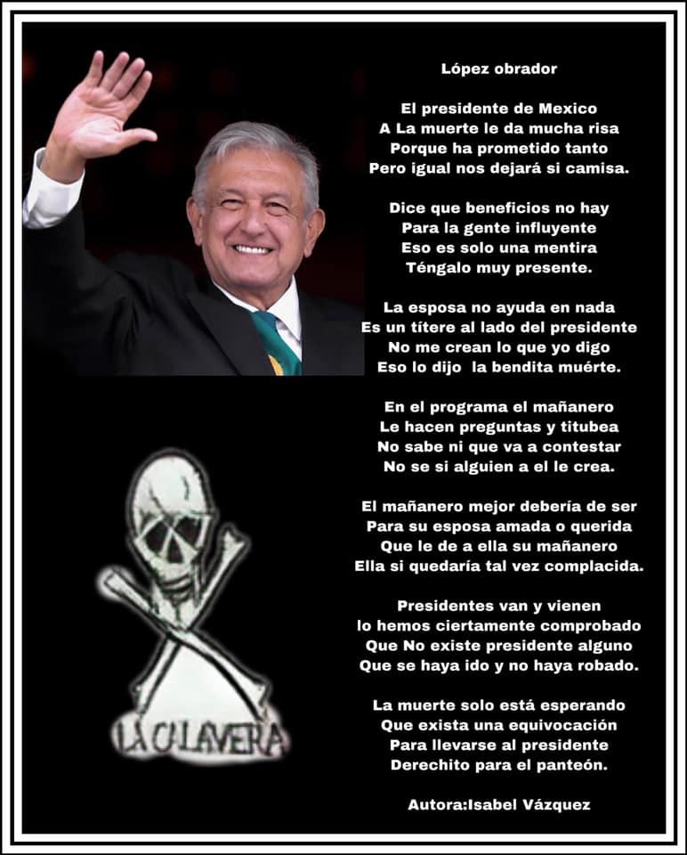 Calavera a Lopez Obrador